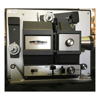 Bell & Howell Dual 8mm & Super 8 mm Movie Projector