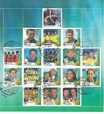 Australia Stamp Year Book 2000 Gold Medalists Sheet cto 2016 e