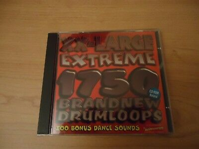 Best Service XX-LARGE EXTREME 1750 BRAND NEW DRUMLOOPS (CD-ROLAND)