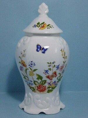 "Charming Aynsley Cottage Garden Regency Covered Jar 8 1/2"" Tall"