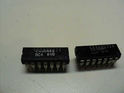 Rca Ca3046E 14 Pin Dip Ic You Get 5 Pieces - Usa Seller - Very Fast Shipping
