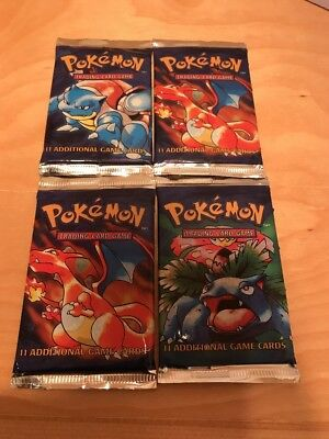Pokemon Cards  - (4) Factory Sealed Base Set - Wizards Of The Coast From 1999