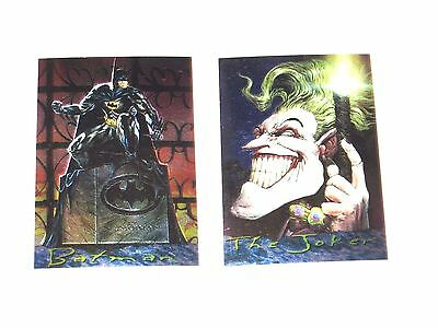 1996 Batman Master Series Chromium 2 Card Chase Insert Set! Joker! Dave Dorman!