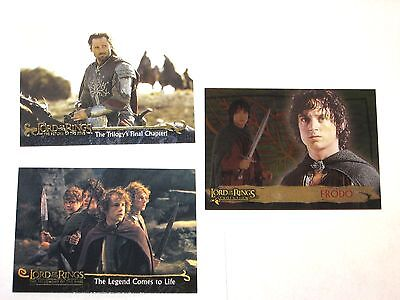 Lord Of The Rings Promo 3 Card Lot # P1 P2 Art Evolution! Lotr! King Fellowship!