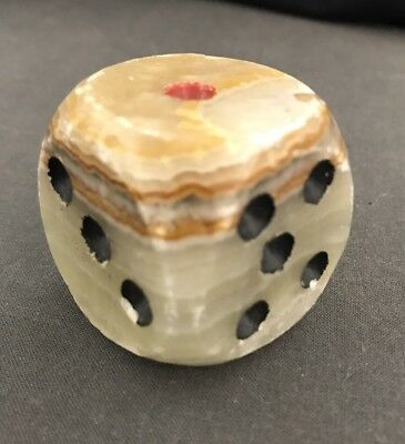 "Hand Carved Beautiful Marble 1.5"" Large Dice, 1 Piece"