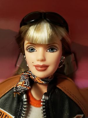 Harley Davidson Barbie 1999 Frosted Blonde Hair In Mint Condition