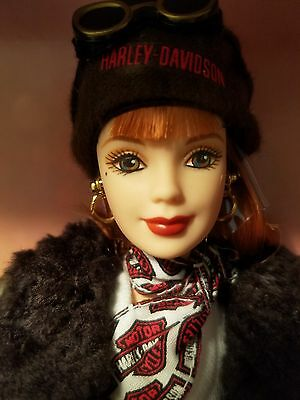 "Harley Davidson Barbie Second in a series ""Red Head"" 1998"