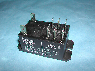2 Pole 30 Amp 24 VDC Coil Relay Contactor Tyco P&B T92S11D22-24 NEW