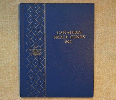 CANADIAN SMALL CENTS WHITMAN ALBUM WITH COINS - 1920 to 1969 - ALL SLEEVES