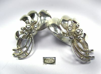 NICE trendy EARRINGS SILVER 925 Ukraine Flowers 3.74 g