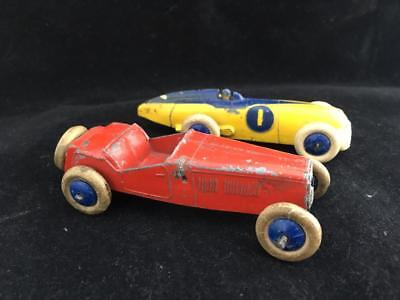 Pre War Dinky Meccano Car And One Other For Parts