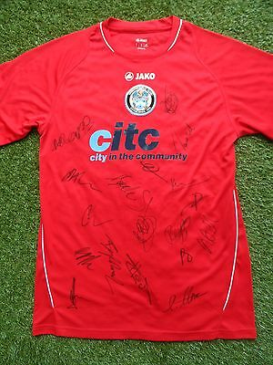 Hyde United Shirt Hand Signed by 2016/2017 Squad - 18 Autographs - Darren Kelly