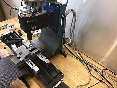 MaxNC 10 Mini CNC with Geckodrive g540 and Ethernet SmoothStepper Lots of extras