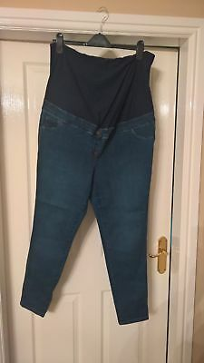 Women's Size 20 Over the Bump Skinny Maternity Jeans by Next