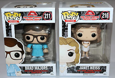 Rocky Horror Picture Show - Brad & Janet - Funko Pop X2 Set - Vaulted - New!