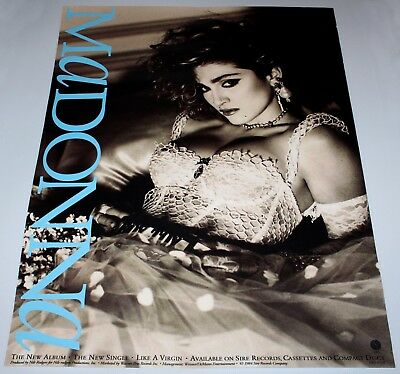 "MADONNA - LIKE A VIRGIN LARGE PROMOTIONAL QUAD POSTER - 30"" x 40"" INCH - ADVERT!"