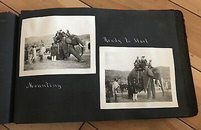 VERY RARE 1918 album -wealthy family tour through North Africa and India