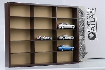 1 x Display Cabinet for 15 Models/Showcase/32 41.5 7.5 Without Cars 1:43 ATLAS