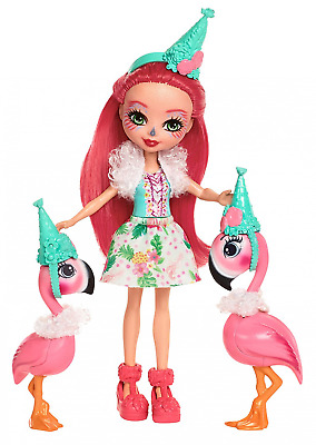 Enchantimals Let's Flamingle Toy Doll Figure with Pet Animal Set