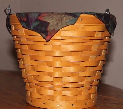 Longaberger Autumn Basket with Liner and Protector