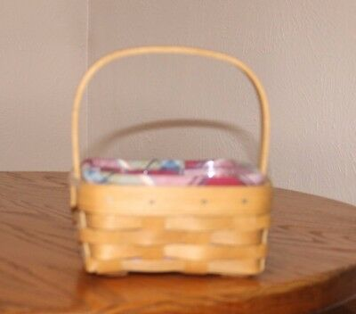 Longaberger Tarragon Basket with Liner and Protector