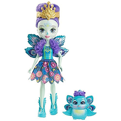 Enchantimals Patter Peacock Toy Doll Figure with Pet Animal Set