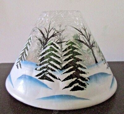 Yankee Candle Jar Shade Painted Crackle Forest Fits Med/Large Candle 1179209