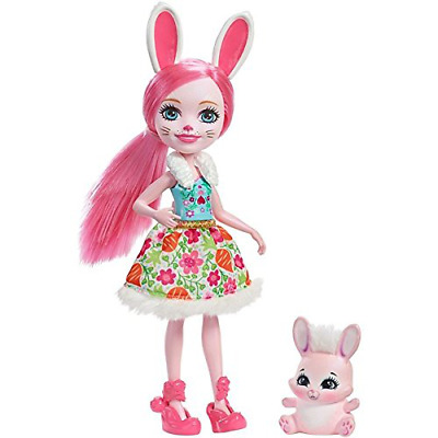 Enchantimals Bree Bunny Toy Doll Figure with Pet Animal Set