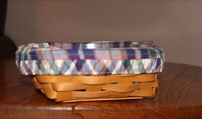Longaberger Small Catch All Basket with Liner and Protector