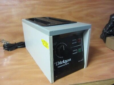 Dickson Paraffin Bath PB-107 6 Lb Capacity Timed Sterilized Circuit. FREE SHIP