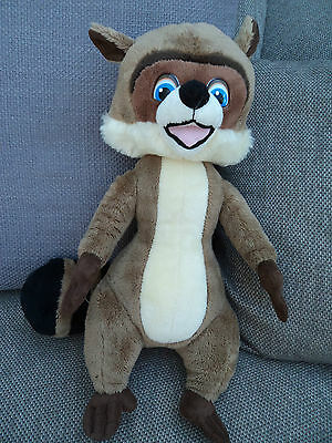 """RJ Racoon from Over The Hedge Dreamworks Soft Plush Toy 14"""" VGC"""