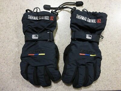Scott USA Black Warm Winter Gloves Ski Snow Board Size Small Kid Boy Girl