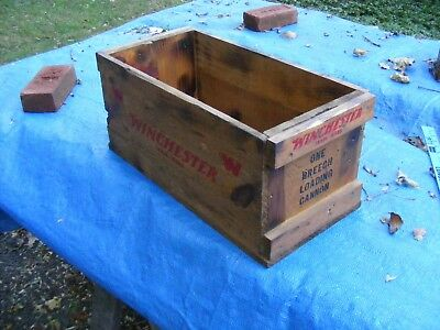 >> Winchester Breech loading Cannon shipping Wooden Box with lid  ,