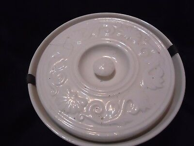 Antique chamber ceramic pot  with handle