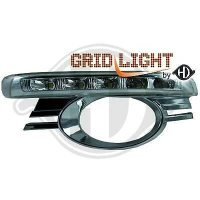 Pair Grid Fog Lamp With Daylight Mercedes C Class W204 2007-2011 1672388