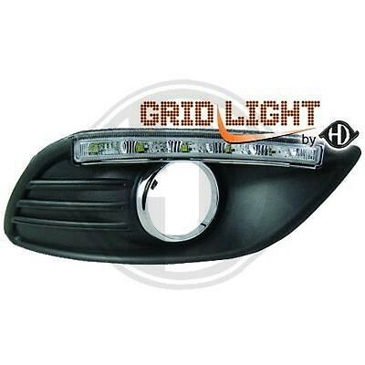 Set Grid Fog Lamp With Daylight Led Drl Tuning Ford Focus 2007-2011 1417588