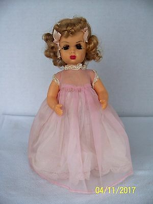 "Vintage 10"" Tiny Terri Lee Doll Blonde With Untagged Dress Slip Bloomers"