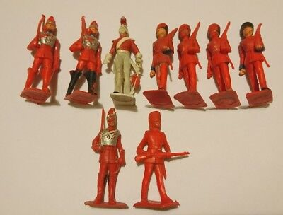 Vintage Cherilea red plastic Palace Guards soldiers.