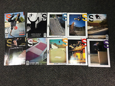 Skate the Skateboard Magazine 10 issue Lot Skateboarder Color RARE sk8 thrasher