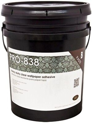 ROMAN PRO-838 5 gal. Clear Heavy Duty Adhesive Excellent Adhesion High wet Tack