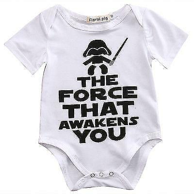 Newborn Star Wars Baby boy girl unisex Clothes Cotton Bodysuit Rompers Outfits