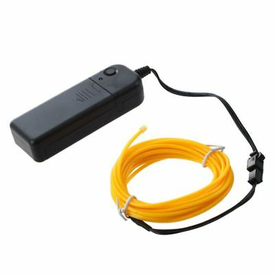 10x(3M Flexible Neon Light Wire Rope Tube with Controller (Yellow) N2S4 G8S4