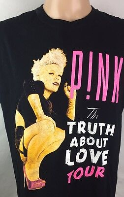 Pink Tour T Shirt The Truth About Love Tour Graphic Tee Medium Or Large  TS10