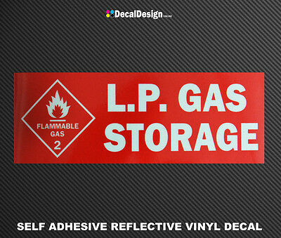 REFLECTIVE DANGER LPG WARNING STICKER LP Gas Bottle Sign Safety Decal