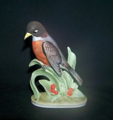 Lefton China Japan Robin KW 464 Bird Figurine