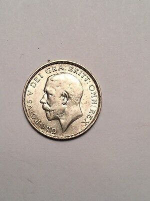 1916 Great Britain Silver One Shilling Coin High Grade
