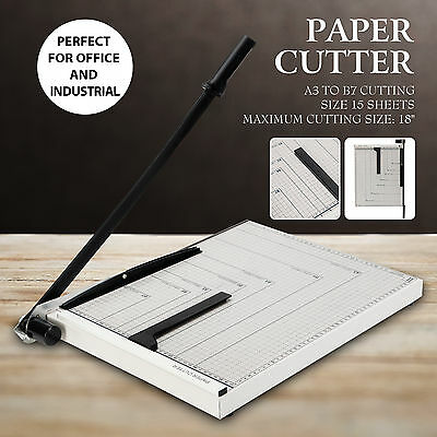 """18"""" x 15"""" Stack Trimmer Paper Cutter Metal Base Home Office Scrap Booking"""