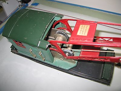 Lionel 219 derrick car in really nice original as found condition green