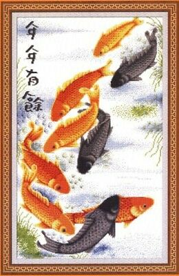 Fish of Fortune - Cross Stitch Chart - Free Postage
