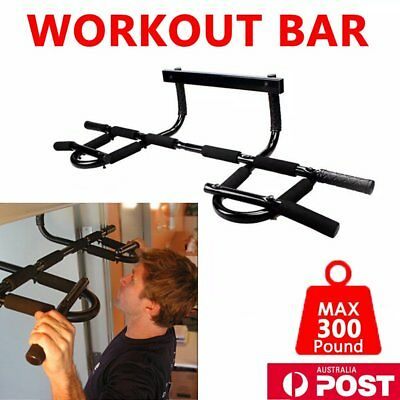 New Portable Chin Up Workout Bar Gym Home Door Pull Up Abs Exercise Doorway R8